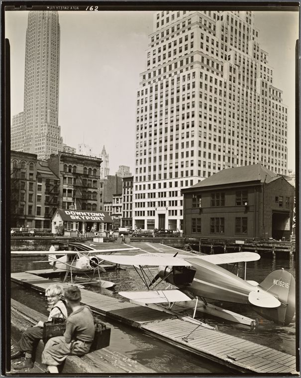 Berenice-Abbott-Downtown-Skyport-Pier-11-East-River-Manhattan-August-12-1936
