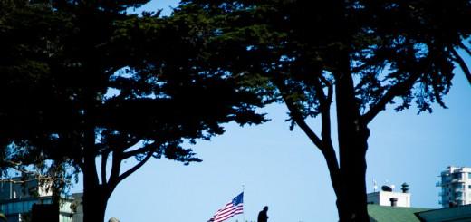 Drapeaux US à San Francisco Photo Didier Laget
