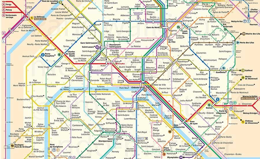 le temp qu'il faut pour aller à pied entre chaque station métro à Paris