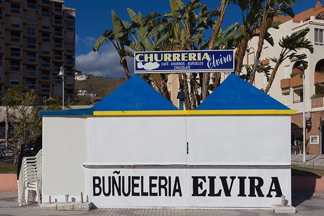 Buñueleria sur la plage d'Almuñècar