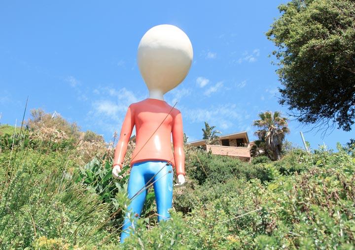 Fredrik Raddum, lumphead, Sculpture by the Sea, Bondi 2010. Photo Samantha Burns